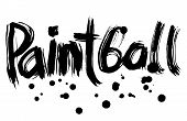 Paintball Hand Lettering. Handmade Calligraphy. Vector