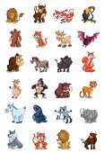stock photo of gorilla  - Wild Animal Collection Editable Eps 10 Vector - JPG