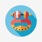Baby Toy Flat Icon With Long Shadow,