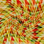 foto of parallelepiped  - Retro pattern of geometric shapes - JPG