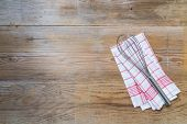 Kitchen Towel Background With Whisk