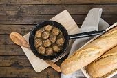 Homemade Meatballs With Onion Sauce