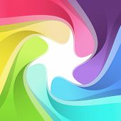 Modern Rainbow Semitone Camera Background