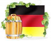 Beer Barrel And German Flag
