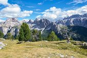 pic of italian alps  - Italian Alps in Val Badia Natural Park of Puez - JPG
