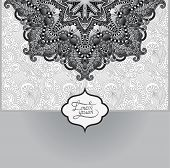grey islamic vintage floral pattern, template