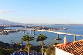 Third Bridge (terceira Ponte) View Of Vitoria From Penha Convent, Vila Velha, Brazil