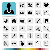 Healthcare and Medical Icon for Business Category Concept