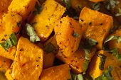 picture of butternut  - Organic Baked Butternut Squash with Herbs and Spices