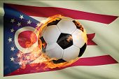 Soccer Ball With Flag On Background Series - Ohio
