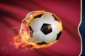Soccer Ball With Flag On Background Series - Tennessee