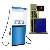 The image of petrol pump under the white background