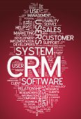 stock photo of customer relationship management  - Word Cloud with CRM  - JPG
