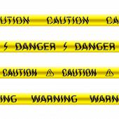 Tapes of caution. Seamless vector.