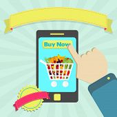 Buy Shopping Cart Full Of Fruits