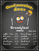 picture of yesteryear  - Breakfast menu on the chalkboard - JPG