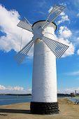 Lighthouse Windmill In Swinoujscie, Poland