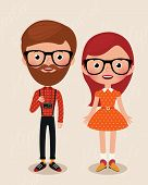 Couple Hipsters