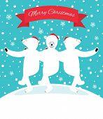 Three Polar Bears Dancing