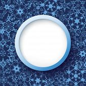Abstract Winter Frame With Ornate Snowflakes