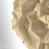 eps10 vector realistic crumpled paper concept background