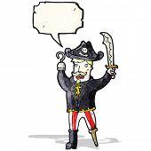 cartoon pirate with speech bubble