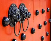 Traditional Chinese decorated with door knockers
