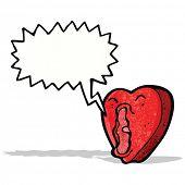 cartoon screaming heart