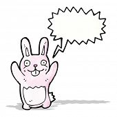 cartoon pink rabbit