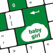 Computer Keyboard Key Button - Baby Girl