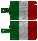 Cutting Boards With Italian Flag
