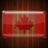 Glass Framework With Canadian Flag