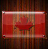 Glass Framework With Canadian Flag