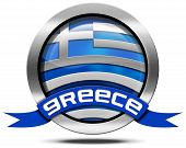 Greece Flag - Metal Icon