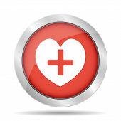 Heart Icon Flat Design Style