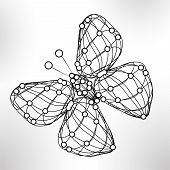 Shiny abstract butterfly, technology energy  illustration