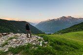 Warm Sunrise In The Alps