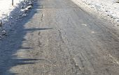 Icy Road In Winter