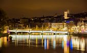 pic of zurich  - Old town of Zurich at night - Switzerland