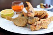 picture of plate fish food  - Barbunia fish dish - JPG