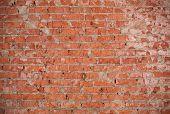 Vintage Red Brick Wall