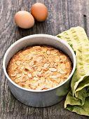 Rustic Swedish Almond Cake In Baking Tin