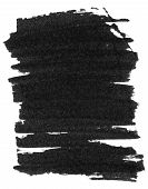 stock photo of dab  - Black marker paint texture isolated on white background - JPG