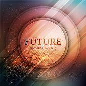 Circular futuristic background. Vector illustration