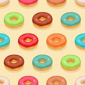 Seamless Cute Donuts