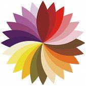 Flower color lotus silhouette for design. Vector illustration.