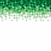 Abstract triangle mosaic green background design element. Vector