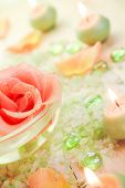 Spa Components Rose Flower Bath Salt Aromatic Candles