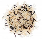 Mixed Rice Isolated On White