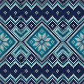 Vintage Sweater Design. Seamless Knitted Pattern